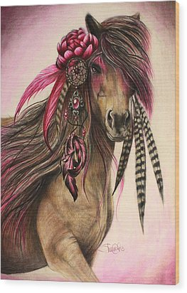 Magenta Warrior  Wood Print by Sheena Pike