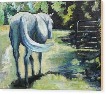 Maggie The Horse In The Pasture Wood Print