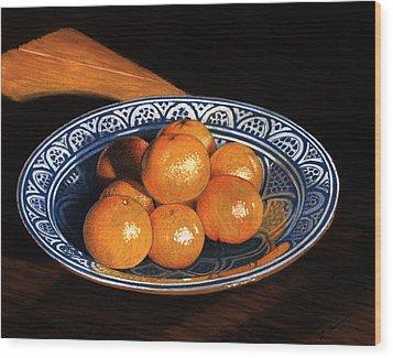 Maggie's Oranges Wood Print by Norm Holmberg