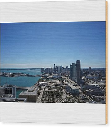 Magic City Skyline Wood Print