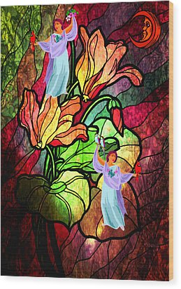 Magic Garden Wood Print by Mary Anne Ritchie