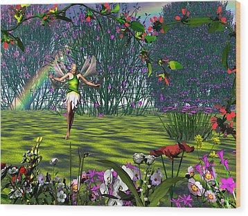 Magic Garden Wood Print by Michele Wilson