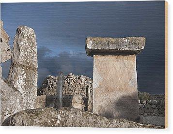 Bronze Edge In Minorca Called Talaiotic Age Unique At World - Magic Island 1 Wood Print by Pedro Cardona