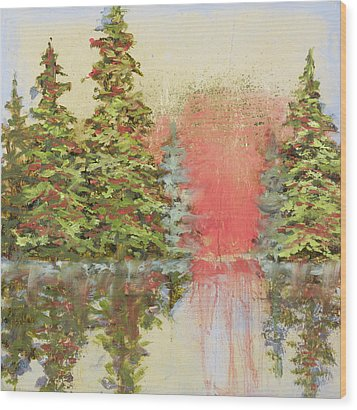 Wood Print featuring the painting Magic Moment by Vic  Mastis