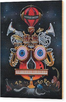 Magic Music Machine Wood Print