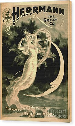 Magic Show Playbill 1898 Wood Print by Padre Art