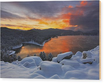 Wood Print featuring the photograph Magic Sunset by Kadek Susanto