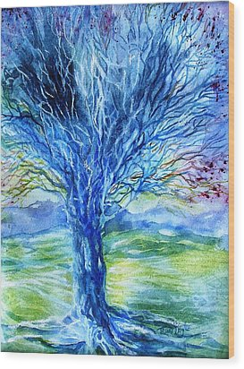 Magic Thorn Tree The Celtic Tree Of Life Wood Print
