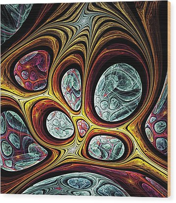 Magic Windows Wood Print by Anastasiya Malakhova