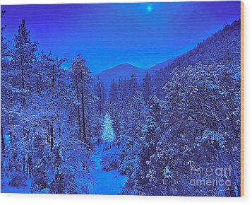 Magical Forest Wood Print by Gem S Visionary