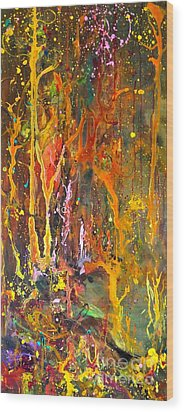 Magical Forest Wood Print by Michelle Dommer
