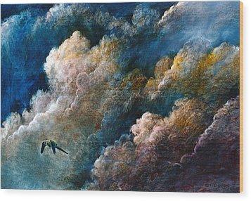 Magical Journey Wood Print by Frank Robert Dixon