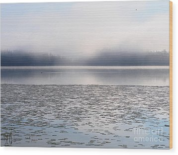 Magical Morning Of Mist Wood Print