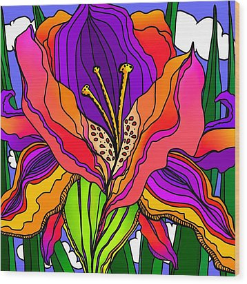 Magical Mystery Garden Wood Print