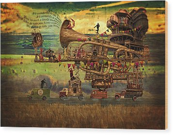 Magical Mystery Tour Wood Print by Duncan Roberts