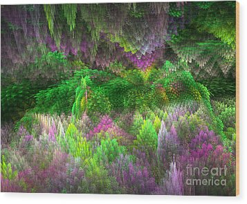 Magical Mystery Woods Wood Print by Svetlana Nikolova