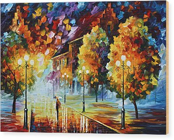 Magical Time Wood Print by Leonid Afremov