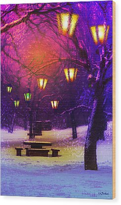 Magical Times Wood Print by Kat Besthorn