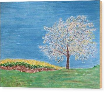 Magical Wish Tree Wood Print by Sonali Gangane