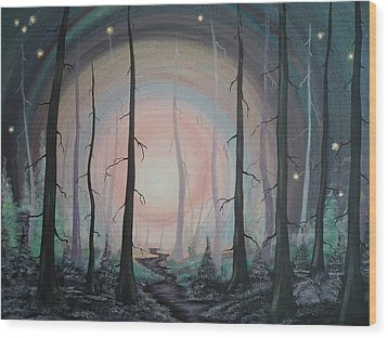 Magicle Forest Wood Print