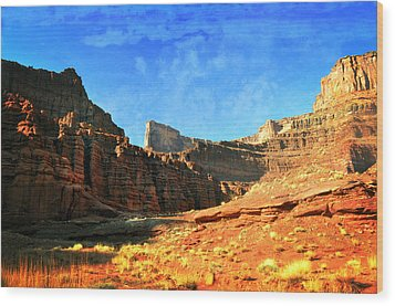 Magnificent Butte Wood Print by Marty Koch