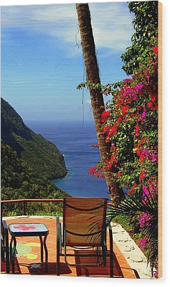 Magnificent Ladera Wood Print by Karen Wiles