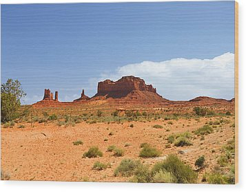 Magnificent Monument Valley Wood Print by Christine Till