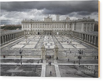 Magnificent Palace View Wood Print by Joan Carroll