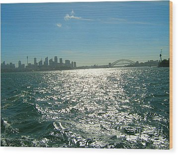 Wood Print featuring the photograph Magnificent Sydney Harbour by Leanne Seymour
