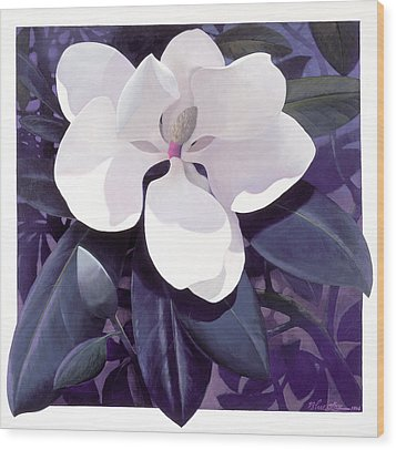 Magnolia Wood Print by Blue Sky