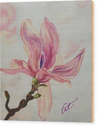 Magnolia Wood Print by Cristel Mol-Dellepoort