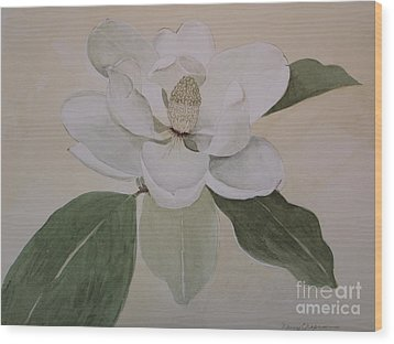 Wood Print featuring the painting Magnolia Delight by Nancy Kane Chapman