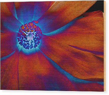 Magnolia Electric Wood Print by Susan Maxwell Schmidt