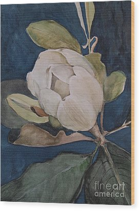 Wood Print featuring the painting Magnolia Evening by Nancy Kane Chapman