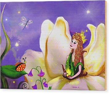 Magnolia Fairy Princess Wood Print