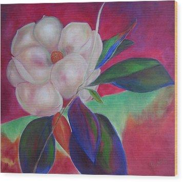 Magnolia I Wood Print by Susan Hanlon