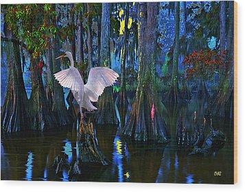 Magnolia Moon Wood Print