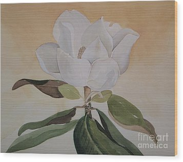 Wood Print featuring the painting Magnolia Morning by Nancy Kane Chapman