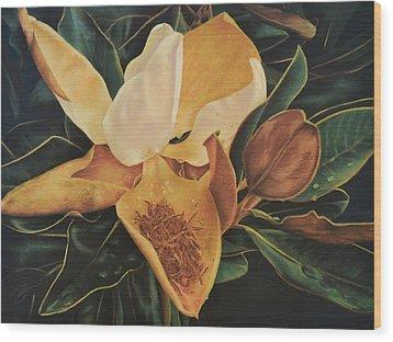 Magnolia - Pastel Wood Print