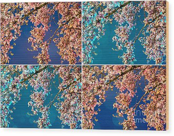 Magnolia Quad Wood Print by Susan Cole Kelly Impressions