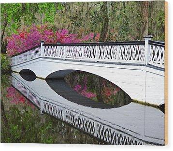 Magnolia White Bridge Wood Print