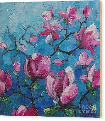 Magnolias For Ever Wood Print
