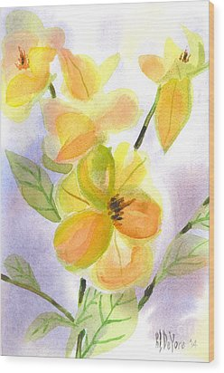 Wood Print featuring the painting Magnolias Gentle by Kip DeVore