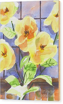 Wood Print featuring the painting Magnolias by Kip DeVore