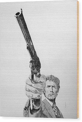Magnum Force Clint Eastwood Wood Print