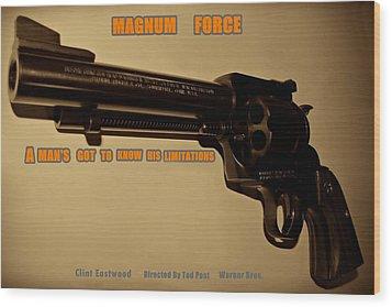 Magnum Force Custom Wood Print by Movie Poster Prints