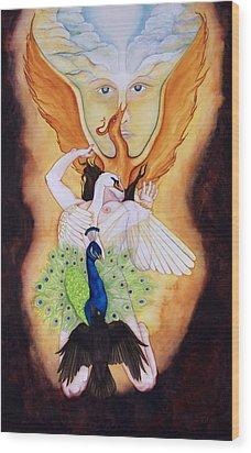 Magnum Opus An Allegory Of Spiritual Alchemy Wood Print by Rebecca Barham