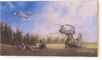 Wood Print featuring the painting Magtf Vietnam by Stephen Roberson