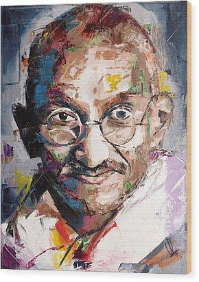 Mahatma Gandhi Wood Print