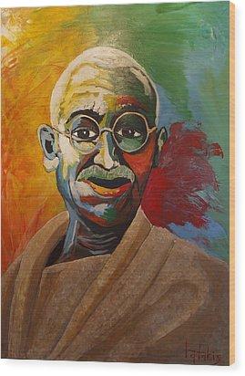 Mahatma Wood Print by George Tatakis